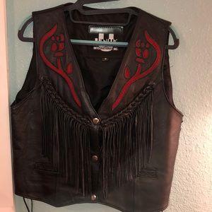 Unik Leather Vest very good con